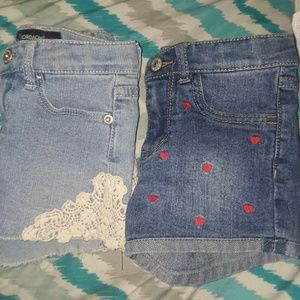 Other - 2 Toddler Girls Jean Shorts 5T